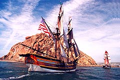 Tall Ship Hawaiian Chieftain visits Morro Bay